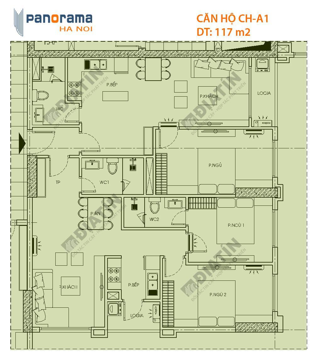 căn 3 ngủ 117m2 chung cư hoàng văn thụ hoàng mai