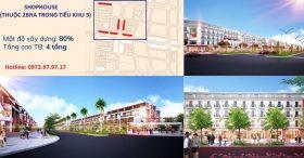 Tổng hợp các căn shophouse đường 286 khu đô thị Kim Đô