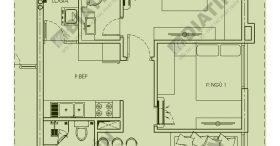 Căn 2 phòng ngủ Chung cư Hoàng Văn Thụ Hoàng Mai