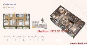 Căn 3 phòng ngủ chung cư Hà Nội Phoenix tower Cao Bằng.