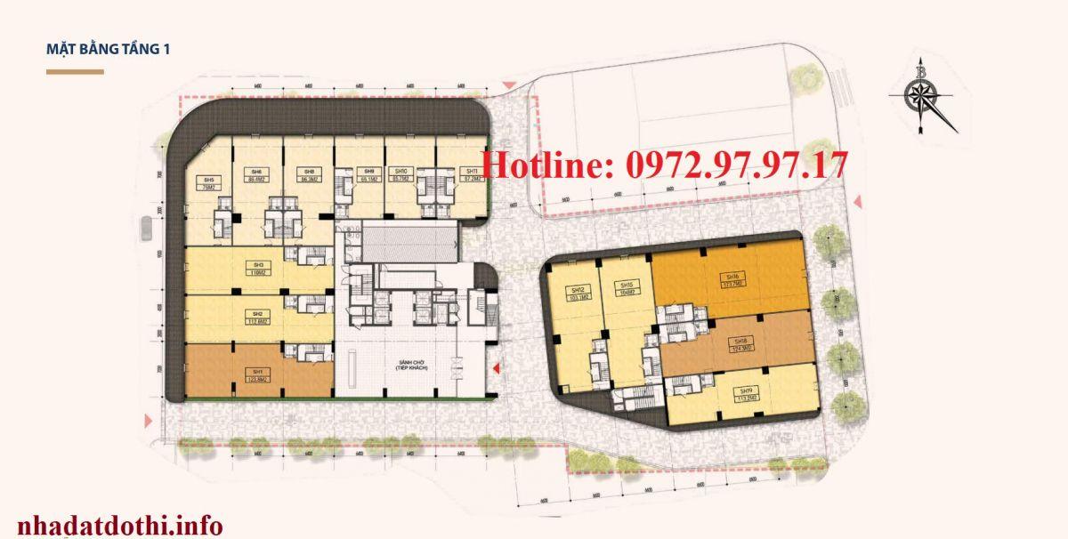 Shophouse chung cư Hà Nội Phoenix Tower