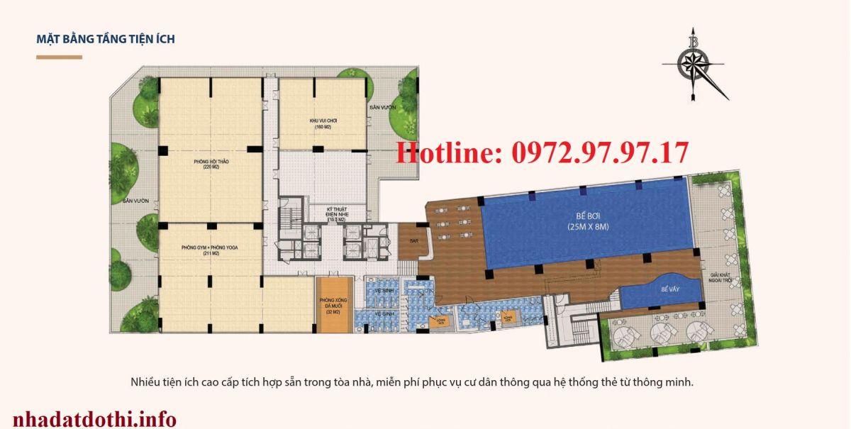 Tiện ích tần 5 chung cư Hà Nội Phoenix Tower