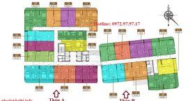 Mặt bằng thiết kế căn hộ chung cư Hà Nội Phoenix tower