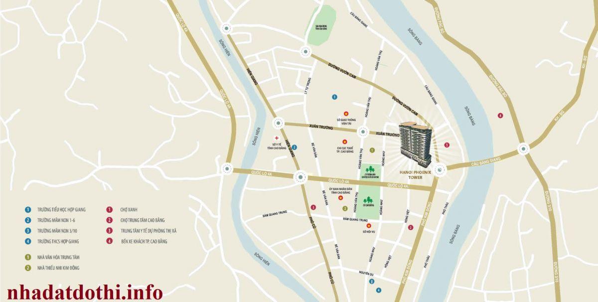 Vị trí chung cư Hà Nội Phoenix Tower