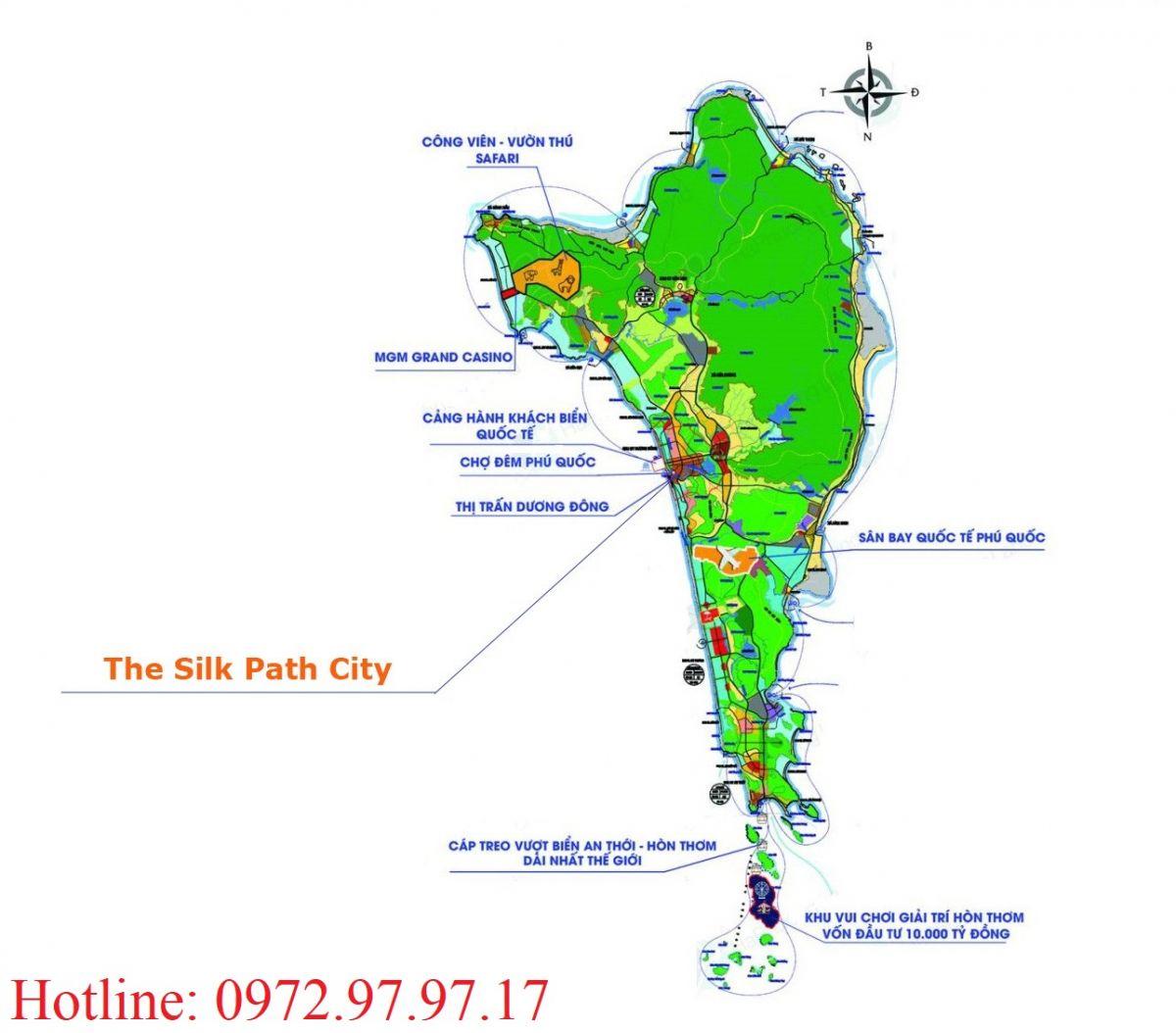 Vị trí The Silk Path City Phú Quốc