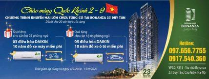 Chung cư Cầu Giấy – ưu đãi lớn nhất tháng 9 khi mua chung cư Bonanza 23 Duy Tân.